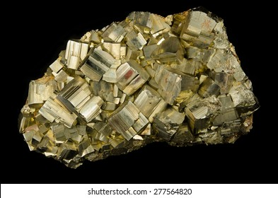 Big cluster of pyrite cubes from Elba, Italy