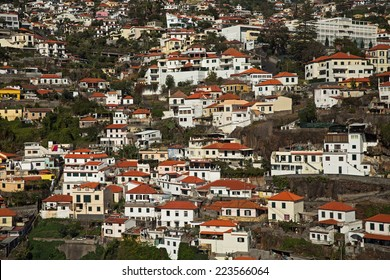 Big cluster of town houses on the hillside