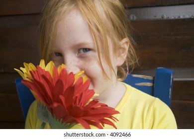 big colored flowers for a lovely girl