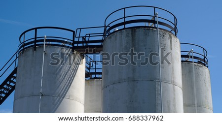 big container petroleum tank fuel factory steel silo storage