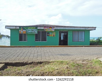 BIG CORN ISLAND, NICARAGUA-MARCH 13: A run shop, bar and night club with typical architecture as seen on Big Corn Island, Nicaragua, Central America on March 13, 2017.
