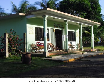 BIG CORN ISLAND, NICARAGUA-MARCH 2017: A local mini-market, locally called a bodega, of typical architecture is seen in   Big Corn Island,  Nicaragua, Central America,  on March 3, 2017.