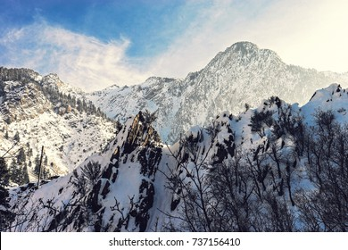 Big Cottonwood Canyon Utah Winter