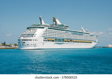 Big cruise ship back docked