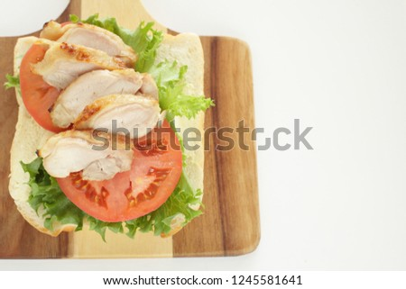 Big Cup Cappuccion Chicken Open Sandwich Stock Photo Edit Now