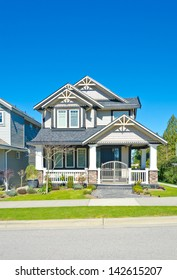 Big custom made comfortable house in the suburbs of Vancouver, Canada.