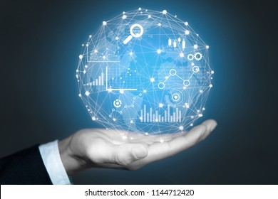Big data analytics and business intelligence concept.
