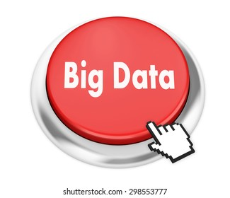 Big Data button on isolate white background