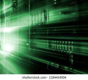 big data center highspeed server storage digital light abstraction. Information technology motion concept