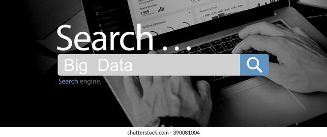 Big Data Digital Information System Technology Concept