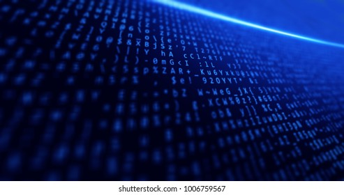 Big data, network, internet, business, background blue with data and concepts tech and light clear