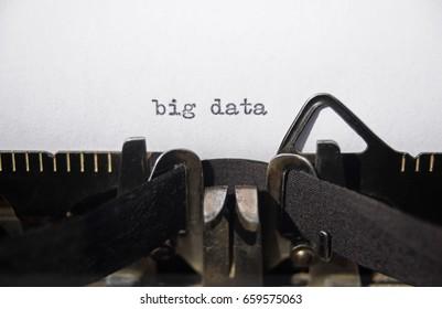 big data on old typewriter