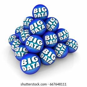 Big Data Sphere Ball Pyramid Information Resource 3d Illustration