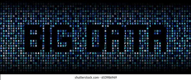 Big Data text over hex code illustration