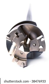 Big diameter Drill for an aperture, for powerful, industrial punchers, focus on a cutting edge.