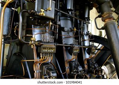 Big diesel engine water pump from 1930