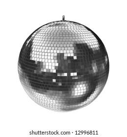 big disco mirrorball on white, easy to isolate. check my portfolio for more mirrorballs!