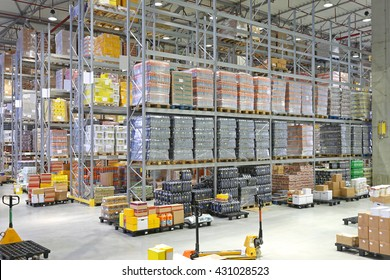 Big Distribution Center Warehouse Building Interior