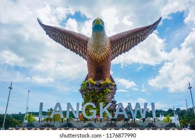 Big eagle at the entrance to Langkawi Island. Malaysia