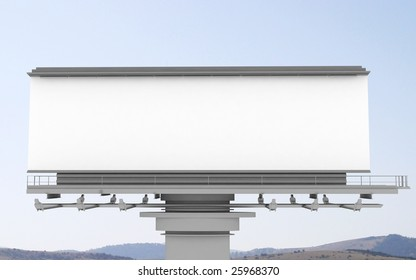 Big empty billboard