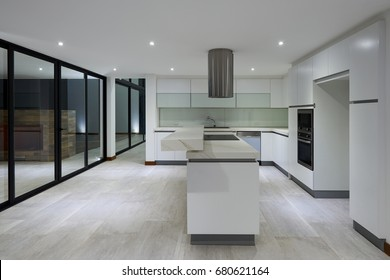 big empty modern kitchen