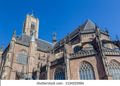 The big Eusebius church in Arnhem in the Netherlands,. The curich was build during the middle ages.