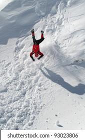 Big fall on the snow