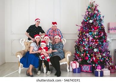 Big Family Celebrating New Year