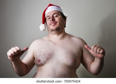 Big fat santa wanting you to choose him