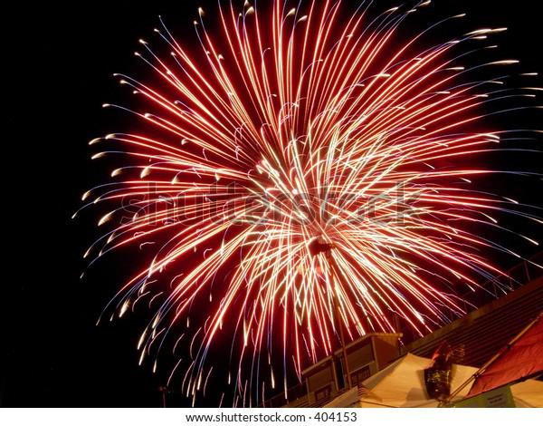 big firework burst