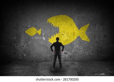big fish eating little fish