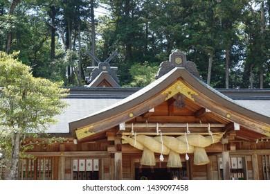 Big Fixed line of Kumano Taisha Shrine in Matsue City, Shimane Prefecture.