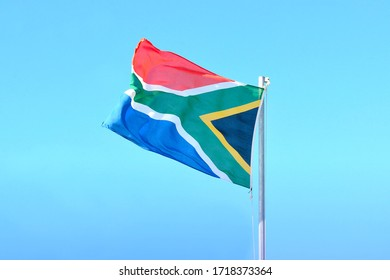 Big flag of the Republic of South Africa - the rainbow nation.