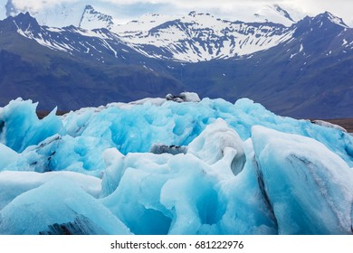 Big floe of the ice lagoon in Iceland. Focus on the floe.