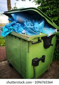 big full garbage bin