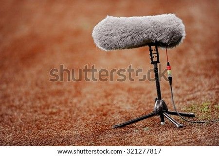 e1f1b667d Big Furry Sport Microphone On Soccer Stock Photo (Edit Now ...