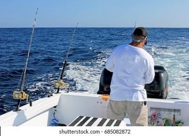 Big game or deep sea fishing in Costa Rica, Central America
