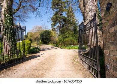 Big gated driveway