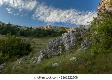 'Big gates' pass at the plateau of Karabi yayla, Crimea