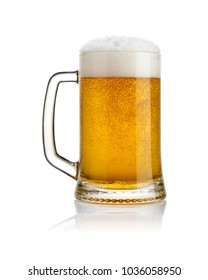 A big glass of beer focus picture