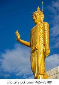 The big golden buddha statue Thailand
