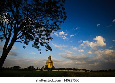 The Big Golden Buddha at Wat Muang, Ang Thong, Thailand