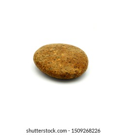 Big granite rock stone, isolated on the white background.