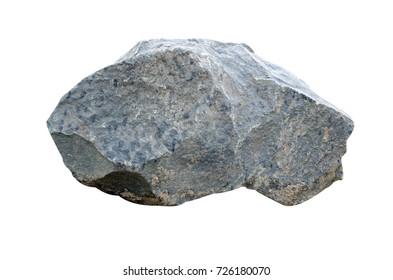 Big granite rock stone, isolated on white background.rock stone isolated on white background.