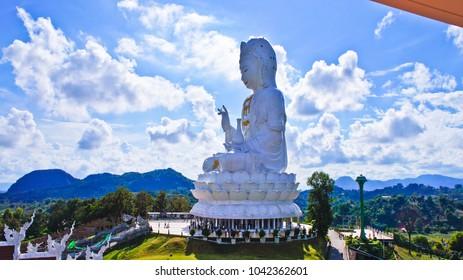 Big Guan Yin Statue in Thailand, Wat Huai Pla Kung, Chiang Rai