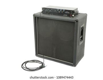 Big guitar amplifier speaker cabinet
