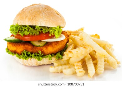 Chicken Schnitzel Burger Hd Stock Images Shutterstock
