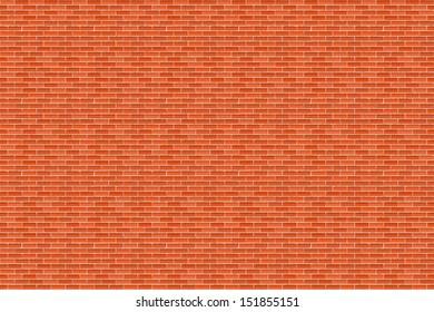 Big horizontal brown brick wall