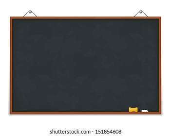 Big horizontal green blackboard