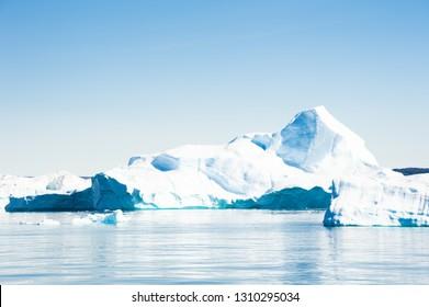 Big iceberg in Ilulissat icefjord, west coast of Greenland